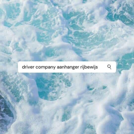 Driver Company aanhanger rijbewijs zoeken